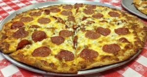Roma's Sausage and Pepperoni Pizza